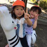 公園・手遊び・馬!?