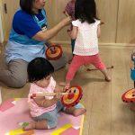 手形製作と太鼓の練習